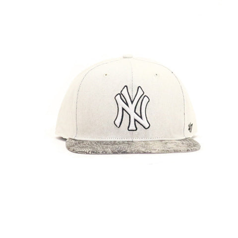 New York Yankees Stone Scale Snapback Hat - Gray