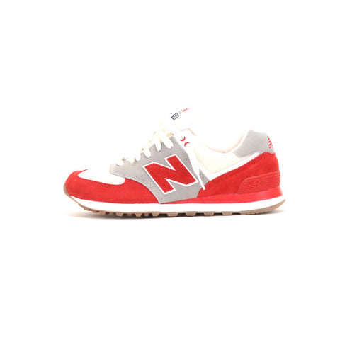 New Balance ML 574 RSB - White/Red