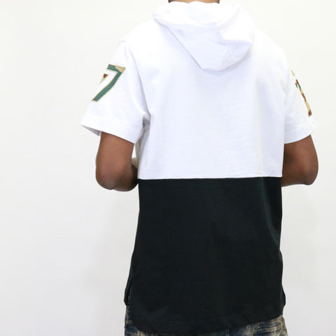 Play Cloths White Woodland S/S Hood Knit