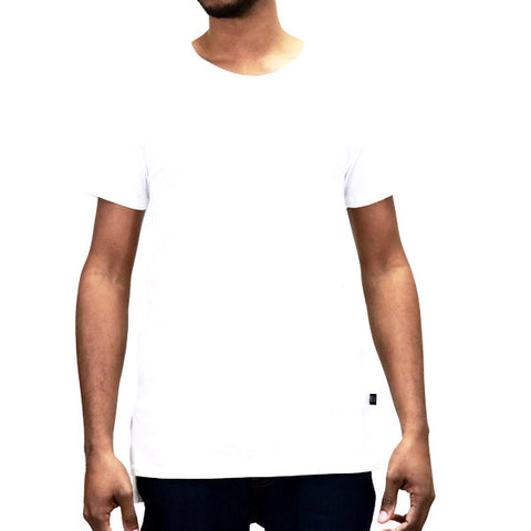 EPTM Long Basic Square Bottom Basic T-Shirt - White