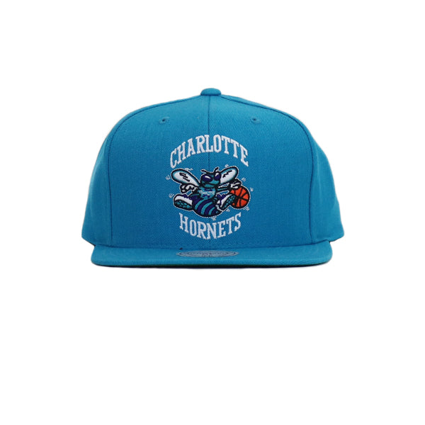 Charlotte Hornets Wool Solid Snapback Hat - Teal