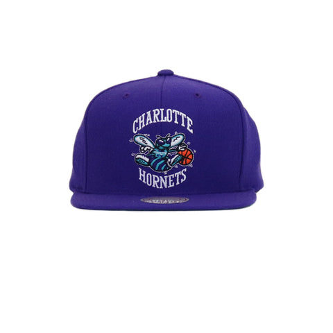 Charlotte Hornets Wool Solid Snapback Hat - Purple