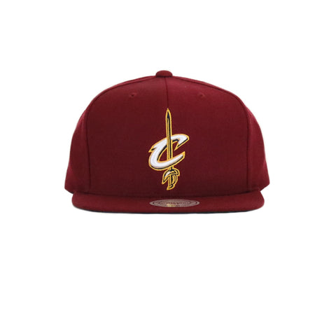 Cleveland Cavilers Wool Solid Snapback Hat - Wine