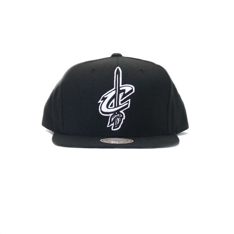 Cleveland Cavaliers Wool Solid Snapback Hat - Black