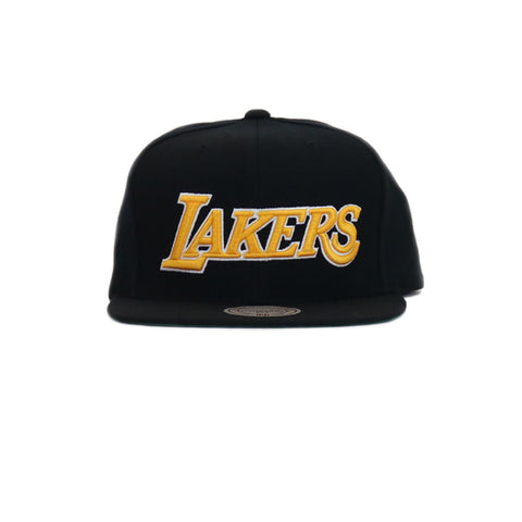 Los Angeles Lakers Wool Solid Snapback Hat - Black