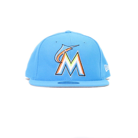 Miami Marlins Little League Classic Snapback Hat - Blue
