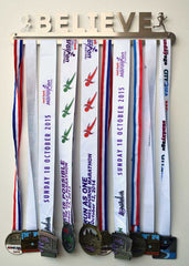 Race Medal Display Hanger - Believe - MedalDisplays.co.uk