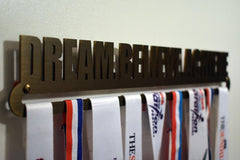 Bronze Plated Medal Display Hanger - Dream. Believe. Achieve. (Limited Edition)