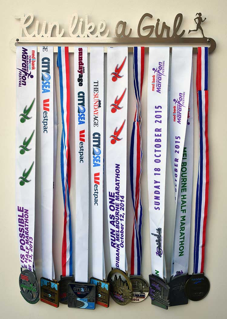 Running Race Medal Display Hanger - Run Like a Girl™ - MedalDisplays.co.uk