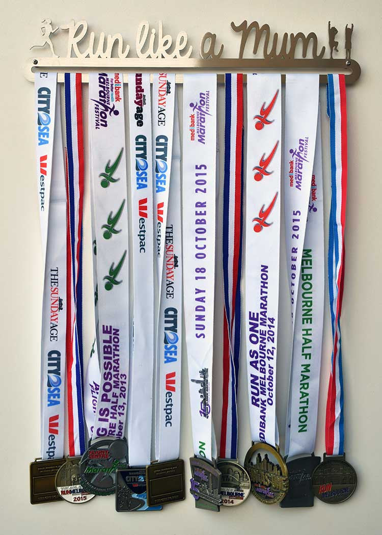 Running Race Medal Display Hanger - Run Like a Mum™ - MedalDisplays.co.uk