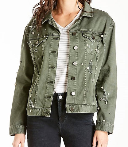 Alissa Embellished Denim Jacket