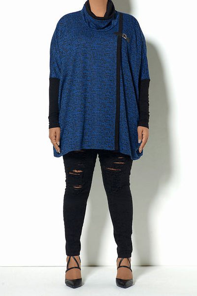 Blue and Black Accented Cape