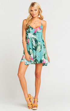 Show me your Mumu Carousel Lace up Dress-Kauai Hugs Cloud