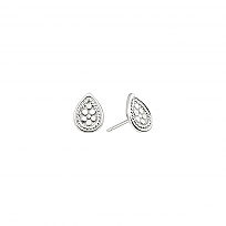 Silver Mini Teardrop Stud Earrings