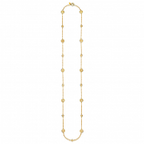 Long Multi Disk Gold Necklace