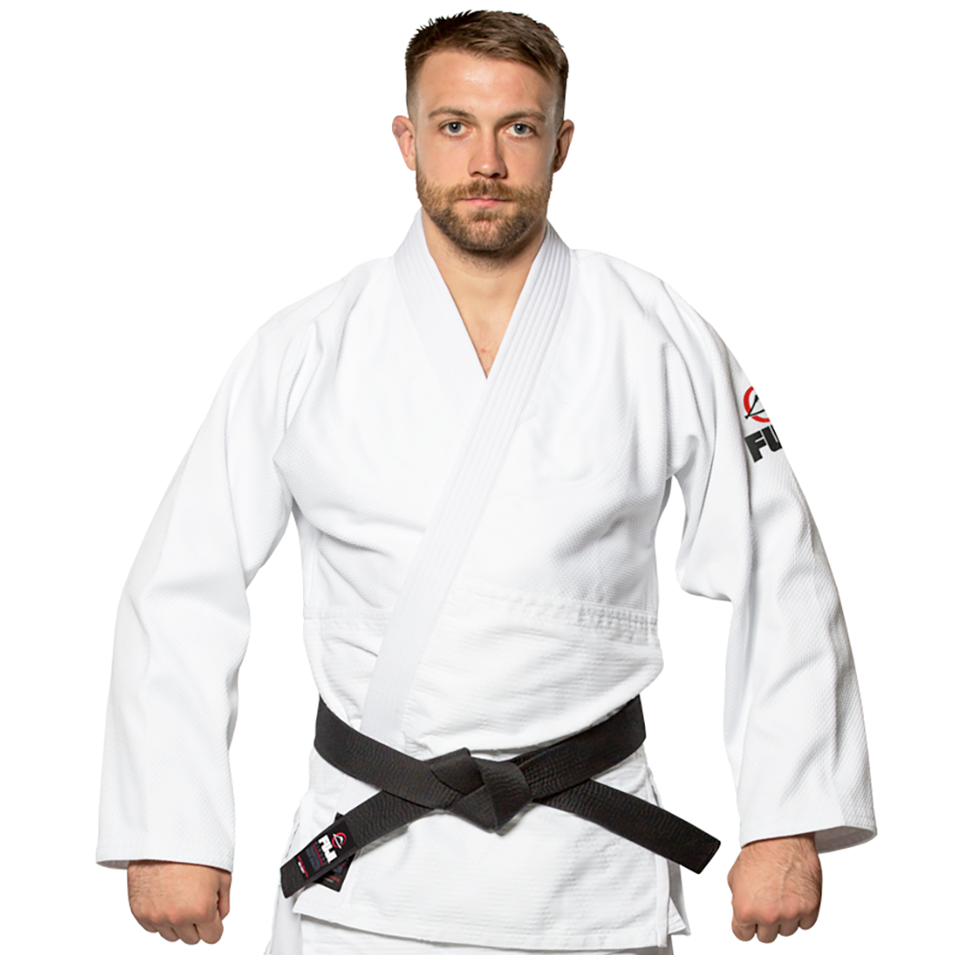e4f36a51ae38 FUJI Single Weave Judo Gi White – Grapplers Connection