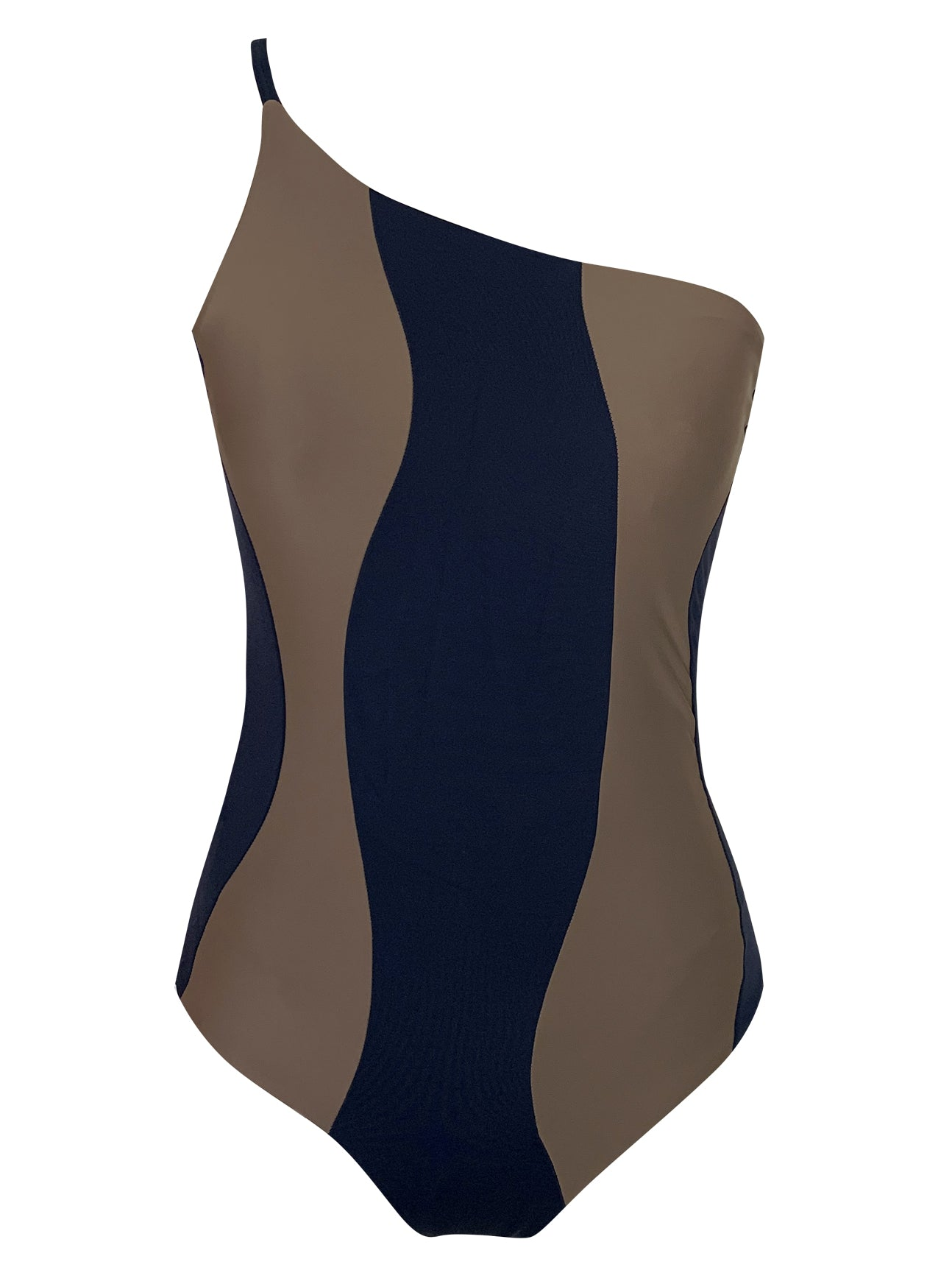 MARBELLA REVERSIBLE ONE-PIECE | NAVY/TAUPE