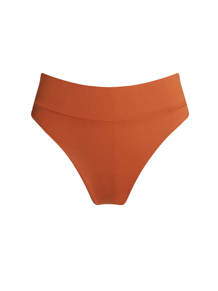 NAVAGIO MID-RISE BOTTOM | BURNT ORANGE