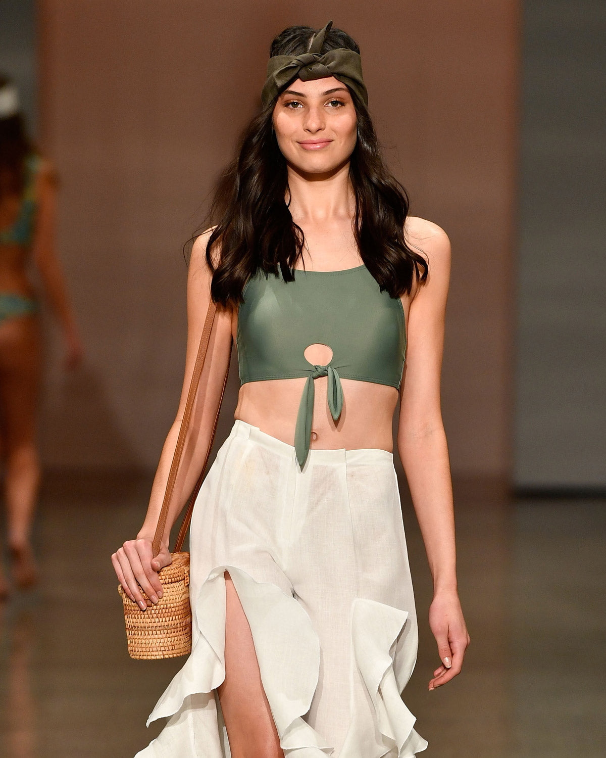 MALIBU CROP TOP | GREEN