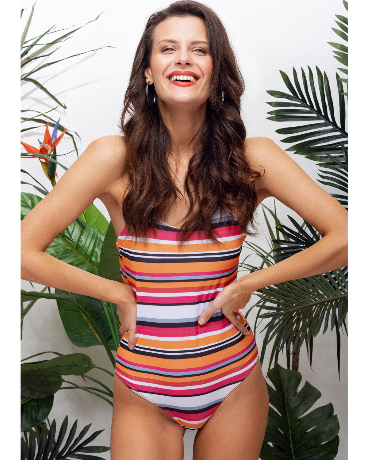 PATONG ONE-PIECE | STRIPE TECHNICOLOR