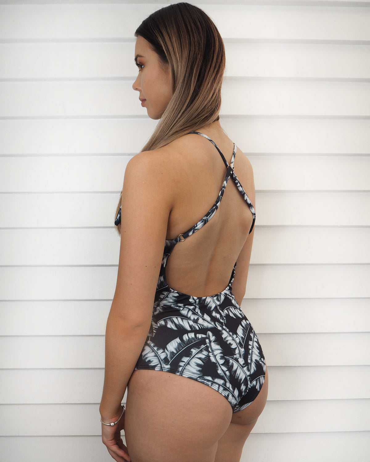 PATONG ONE-PIECE | TROPICAL B&W