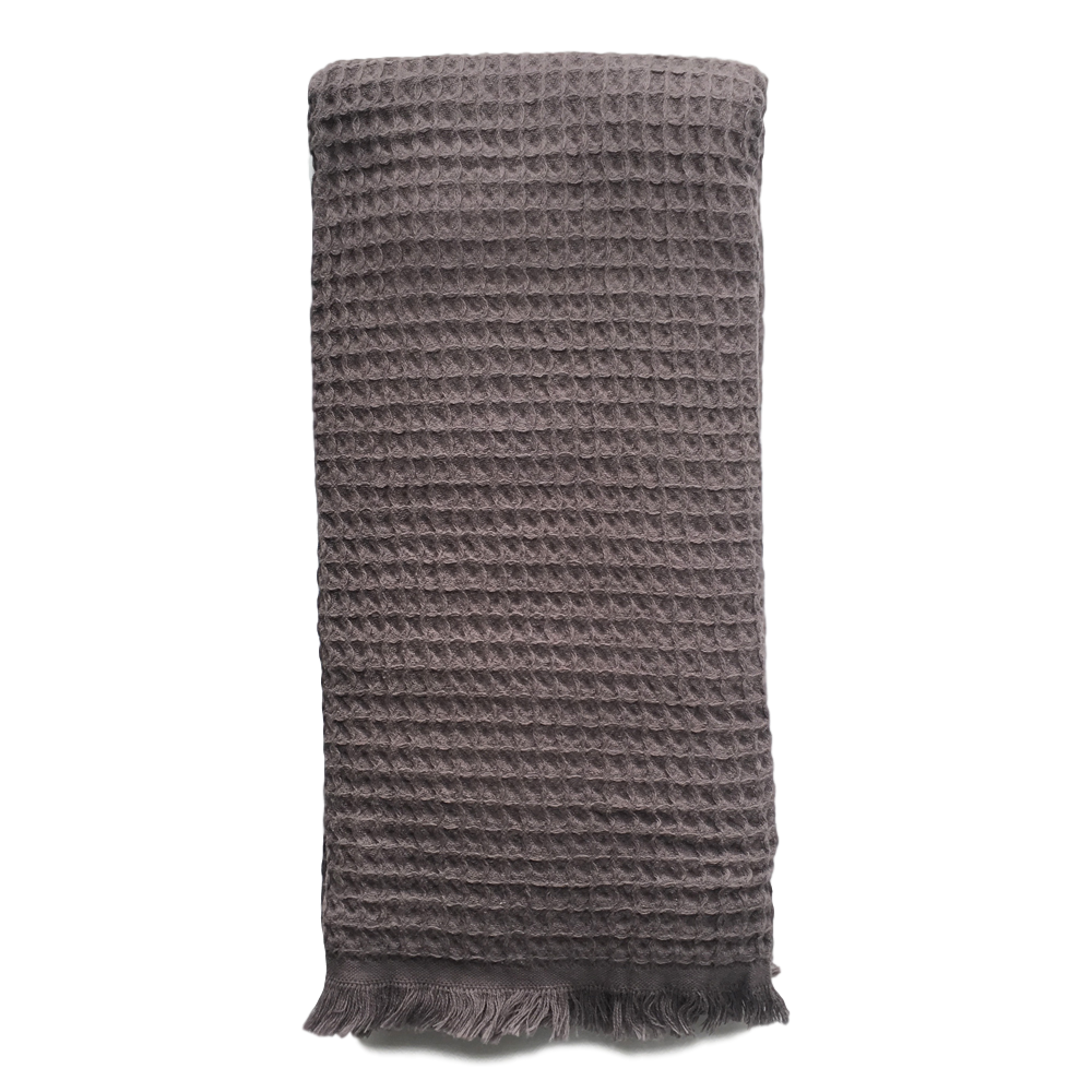 IZZY AND JEAN | Waffle turkish towel CHARCOAL