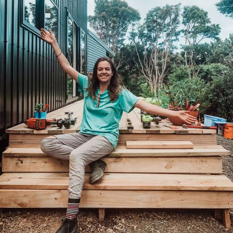 Steph Ama Ambassador in her Tiny House