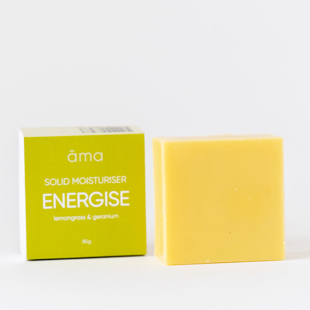 Solid Body Moisturiser Energise Open Packet