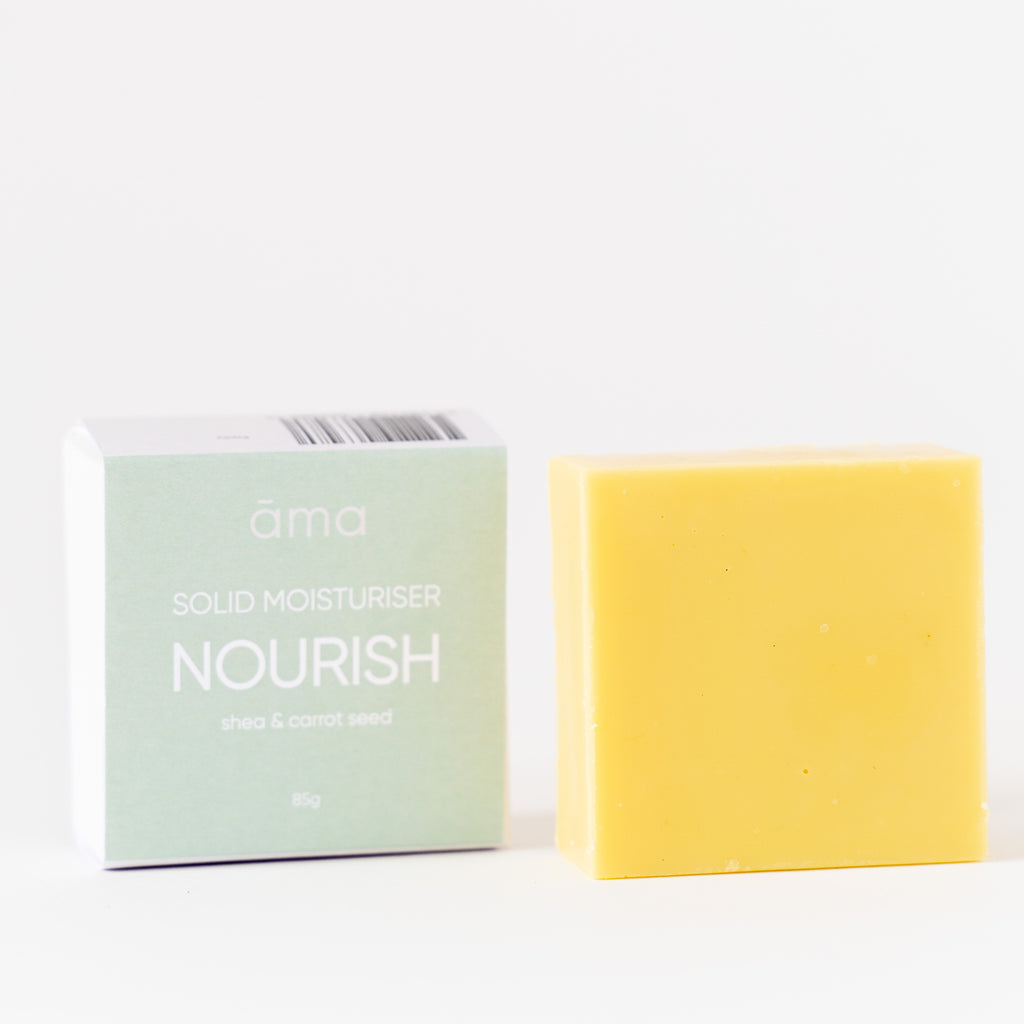 Solid Body Moisturiser Nourish Open Packet