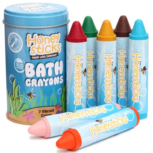 Honeysticks Bath Crayons, 7 vibrant colours