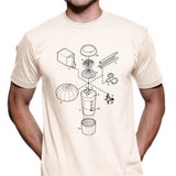 Exploded Pumpkin Spice Latte Men's Graphic Tee
