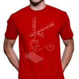 Exploded Beertap and Snifter Men's Graphic Tee