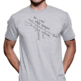 Exploded AR-15 Semi-Automatic Rifle Men's Graphic Tee