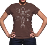 Exploded Pumpkin Spice Latte Women's Graphic Tee (White Print)