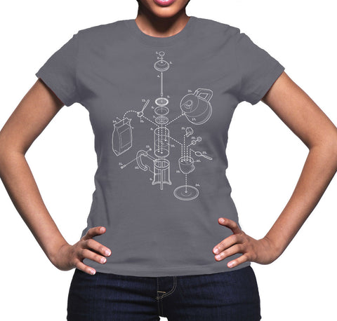 Exploded French Press Women's Graphic Tee