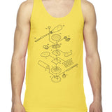 Exploded Burger Unisex Tank Top