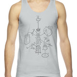 Exploded French Press Unisex Tank Top