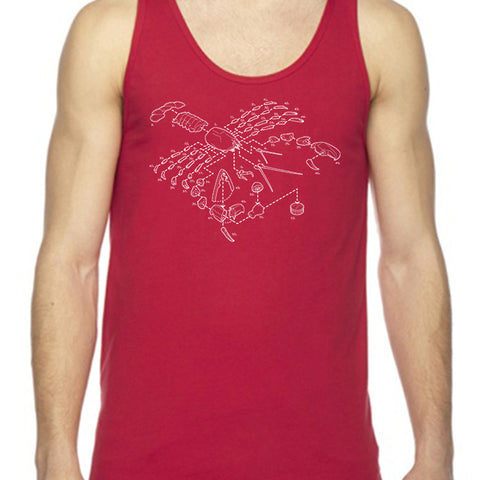 Exploded Lobster Unisex Tank Top
