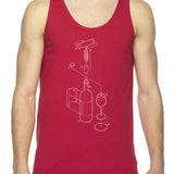 Exploded Wine Unisex Tank Top