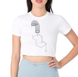 Exploded Slinky Women's Cropped T-Shirt