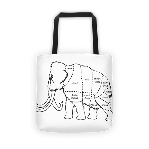 Woolly Mammoth Butcher Cut Tote Bag
