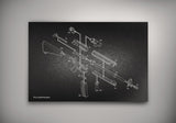 Exploded Ar-15 Semi-Automatic Rifle Poster Art Print