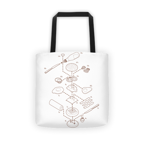 Exploded Burger Tote Bag
