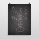 Exploded Cupcake Poster Art Print