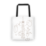Exploded French Press Tote Bag