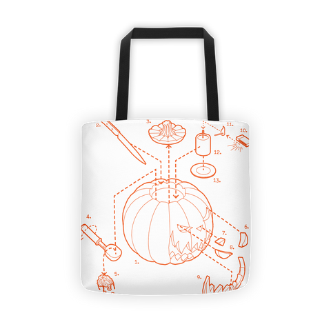 Exploded Jack-o-Lantern Tote Bag