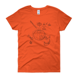 Exploded Jack-o-Lantern Women's Graphic Tee