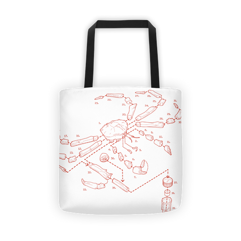 Exploded King Crab Tote Bag