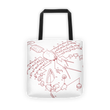 Exploded Lobster Tote Bag
