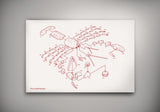 Exploded Lobster Poster Art Print